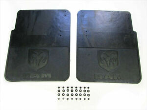 Dodge Ram 2500 3500 Dually Heavy Duty Rubber Rear Mud Flaps Brand New Oem Mopar
