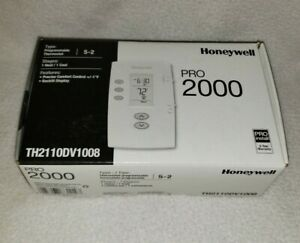 Honeywell Pro 2000 Programmable Thermostat 5 2 Th2110dv1008 1 Heat 1 Cool New