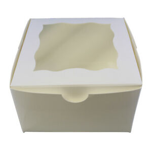 Spec101 White Bakery Boxes With Window 25pk Cake Boxes Party Favor Boxes