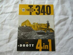 1962 International Drott Bulldozer Scraper Clamshell T 340 Brochure