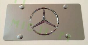 Mercedes Benz Front Auto Heavy Duty Vanity Stainless Metal License Plate Frame