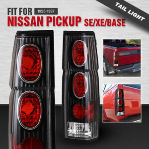 For 95 97 Nissan Pickup 86 94 Hardbody D21 Tail Lights Black Clear Altezza Style Fits 1986 Nissan