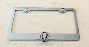 3d Buick Emblem Stainless Steel License Plate Frame Rust Free
