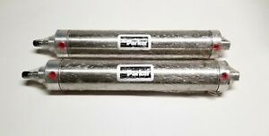 Lot Of 2 Parker Sr Series Pneumatic Cylinders 2 1 2 Bore 11 Stroke