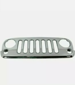 New Grille Plastic Chrome Shell And Insert Fits Jeep Wrangler 2007 16 Ch1200328