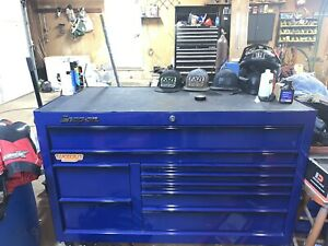 Snap On Royal Blue Double Bank Tool Box With Power Bank And Drawer Matts