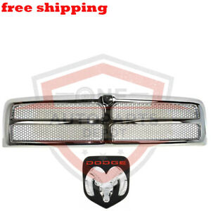 New Front Chrome Grille Assembly Oem Emblem 94 02 Ram Pickup Truck Ch1200178