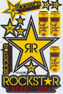 Rockstar Energy Racing Sticker Motorcycle Motocross Supercross Enduro Bike Motog