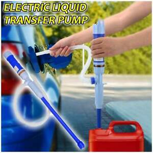 Electric Battery Operated Powered Liquid Transfer Siphon Pump With Bendable Tube