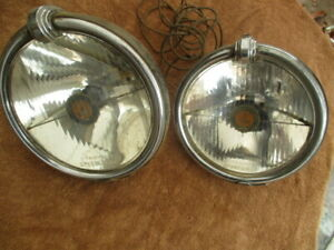 1928 1942 Pair Of Trippe Senior 8 Driving Lights