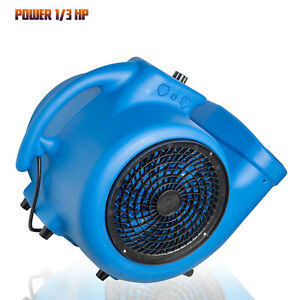 1 3 Hp Utility Fan Blower Air Mover For Cooling Ventilating Exhausting Drying