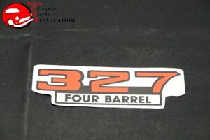 Chevy 327 Four Barrel Aftermarket Valve Cover Air Cleaner Decal
