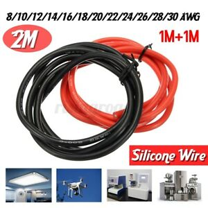 8awg 30awg Flexible Silicone Wire Cable Insulation Tinned Copper 2m Tools Us