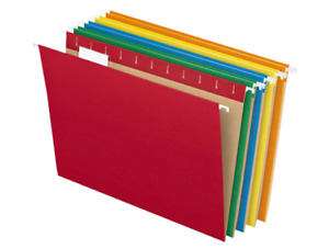 Hanging File Folders 1 5 Tab Letter Assorted Colors 25 box 81663 Filing Cabinet