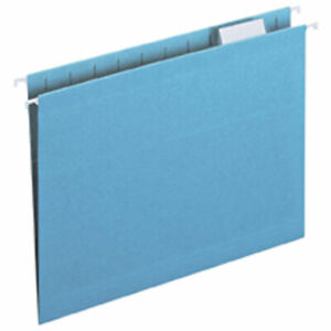 Legacy Letter Size 1 5 Cut Tab Hanging File Folders Blue