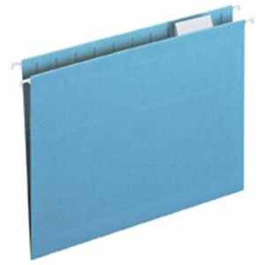 Legacy Letter Size 1 5 Cut Tab Hanging File Folders Blue 25 box