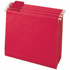 Legacy Letter Size 1 5 Cut Tab Hanging File Folders Red 25 box