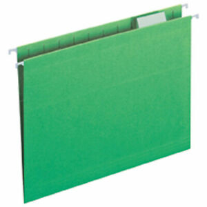 Legacy Letter Size 1 5 Cut Tab Hanging File Folders Green 25 box