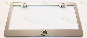 Buick Logo Stainless Steel License Plate Frame Holder Rust Free