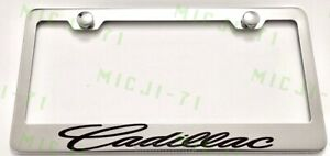 Cadillac Stainless Steel License Plate Frame Holder Rust Free