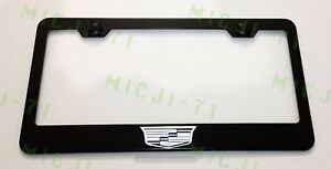 Cadillac Logo Stainless Steel License Plate Frame Holder Rust Free