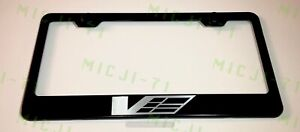 Cadillac V Power Stainless Steel License Plate Frame Holder Rust Free