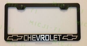 Chevrolet With Logo Stainless Steel License Plate Frame Holder Rust Free