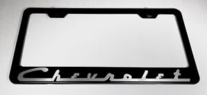 Chevrolet Stainless Steel License Plate Frame Holder Rust Free
