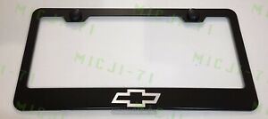 Chevrolet Logo Stainless Steel License Plate Frame Holder Rust Free