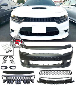 Srt 8 Hellcat Style Front Bumper W Sp Air Duct Grille Fits 15 21 Dodge Charger
