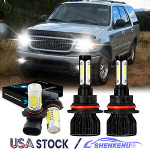 9007 9145 Led Headlight Bulbs For Ford Expedition 1999 2000 2001 2002 Cool Fan