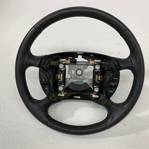 1999 2004 Oem Ford Mustang Charcoal Leather Gt Steering Wheel 99 04 s7612