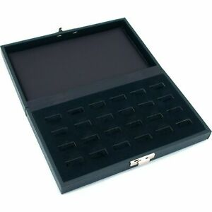 24 Ring Jewelry Display Tray Case Wide Slot Storage Box New 8 3 4 X 5 3 8
