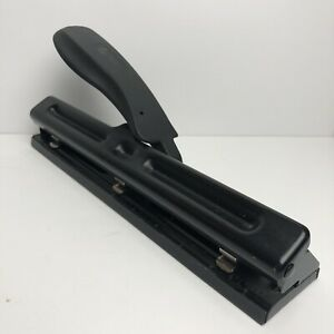 Acco Adjustable 3 hole Punch Black Metal Free Shipping