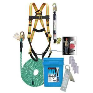 Max v Roof Safety Kit With 50ft Rope And Bucket