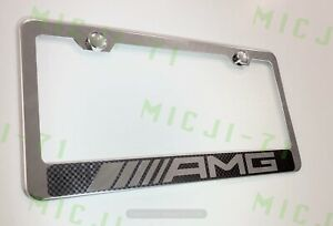 Amg Mercedes Benz Stainless Steel License Plate Frame Holder Rust Free