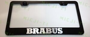 Brabus Mercedes Benz Stainless Steel License Plate Frame Holder Rust Free