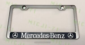 Mercedes Benz With Logo Stainless Steel License Plate Frame Holder Rust Free