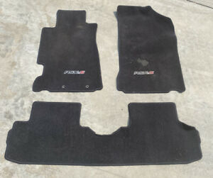 02 06 Acura Rsx Type S Front Rear Floor Mats Carpet Black Oem Factory Stock