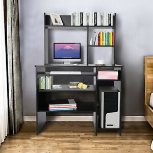47 2inch Computer Desk With Hutch Bookshelf Pc Laptop Study Table Workstation Us