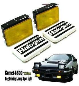 Universal Suv Fog Light Spot Lamp H3 12v 55w Yellow Adjustable Fit All Car Ae86