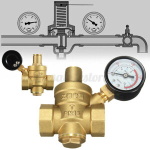 Dn20 Npt 3 4 Adjustable Brass Water Pressure Regulator Reducer W Gauge