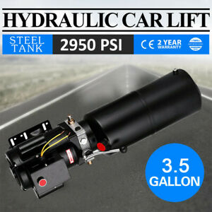 220v Car Lift Hydraulic Power Unit 2 2 Kw Auto Lifts Vehicle Manual 3 5 Gal