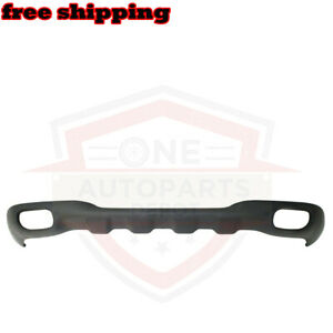 For 98 00 Ford Ranger Front Bumper Lower Valance With Fog Lamp Holes Dark Gray