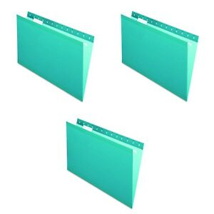 New Pendaflex Reinforced Hanging Folders Legal Size Teal File 1 5 Cut 3 Count