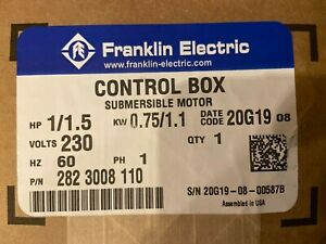 New Franklin Electric Control Box 282 3008 110 1 1 5hp 0 75 1 1kw In Box