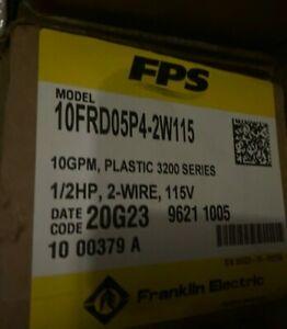 Franklin Electric 3200 Series 10frd05p4 2w115 Submersible Pump 10 Gpm 0 5 Hp 115