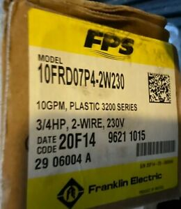 Franklin Electric 3200 Series 10frd07p4 2w230 Submersible Pump 10 Gpm 0 75 Hp 23