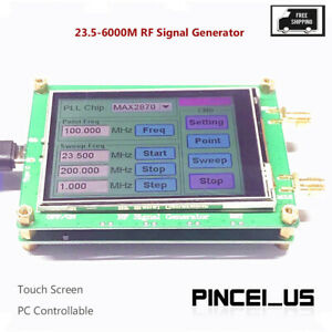 23 5 6000m Rf Signal Generator 0 5ppm Low Noise Frequency Sweep Touch Screen Pe6