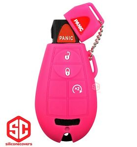 1x New Key Fob Remote Fobik Silicone Cover Fit For Chrysler Dodge Jeep Vw